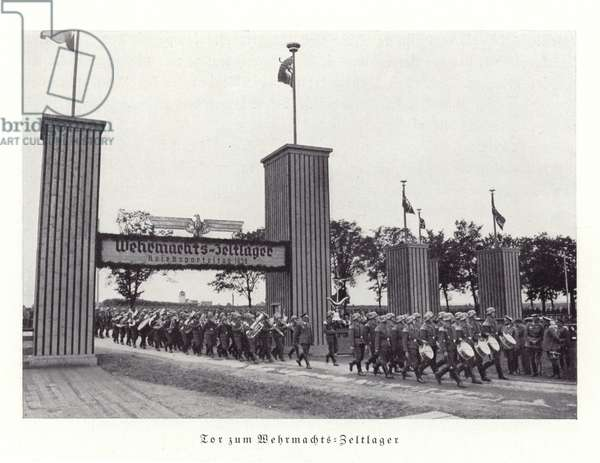Gateway to the camp of the armed forces, Nuremberg Rally, 1936 (b/w photo)