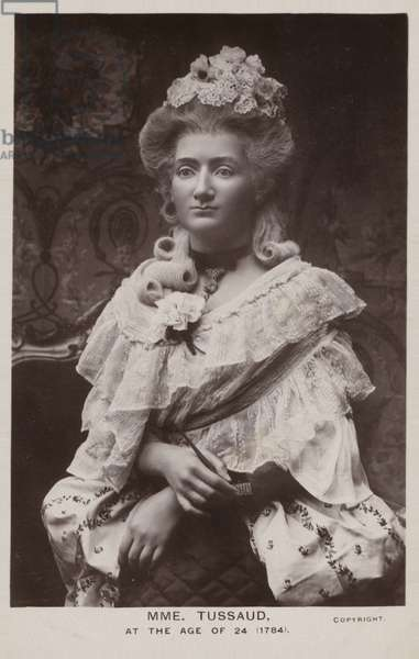 Marie Tussaud, French artist and wax sculptor (b/w photo)