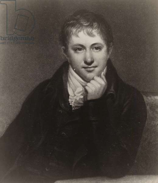 Sir Humphry Davy (1778-1829, English chemist and inventor (litho)