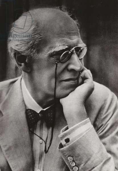 Konstantin Stanislavski, Russian actor and theatre director (b/w photo)