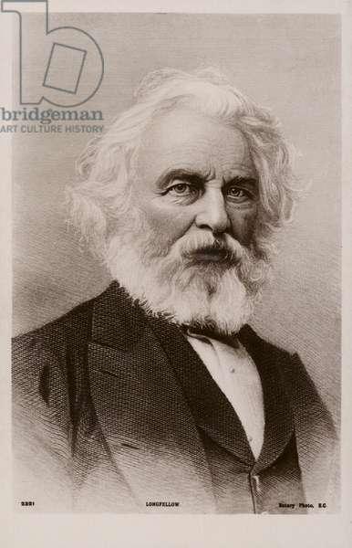 Henry Wadsworth Longfellow (1807-1882), American poet (litho)