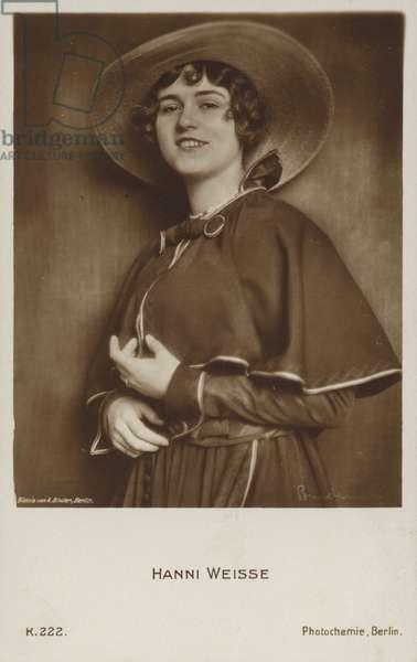 Hanni Weisse, German film actress (b/w photo)