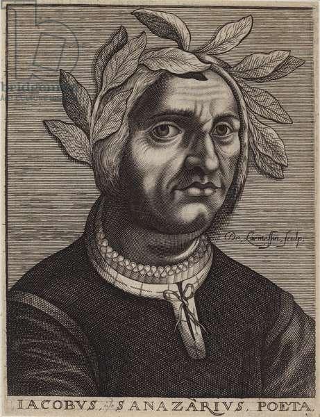 Jacopo Sannazaro, Italian poet (engraving)
