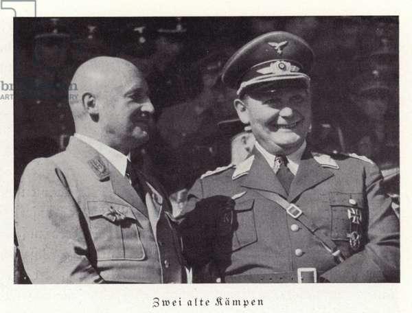 Julius Streicher and Hermann Goering (b/w photo)