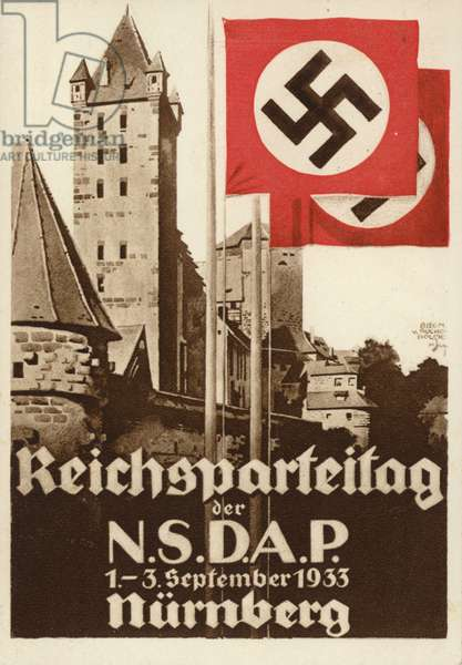 Nuremberg Rally, 1933 (colour litho)