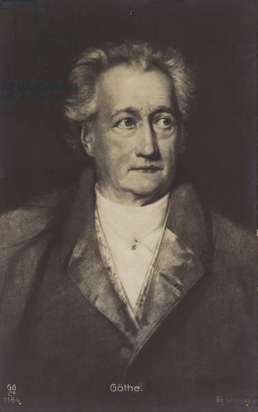 Johann Wolfgang von Goethe (1749-1832), German poet, novelist and playwright (litho)