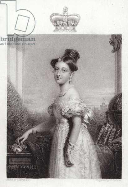 Queen Victoria at the age of 18 (engraving)