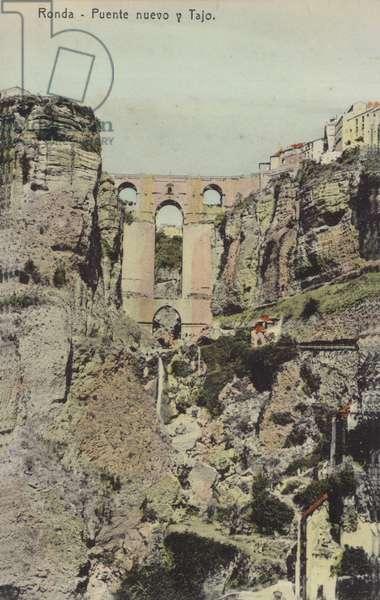 Puente Nuevo (New Bridge), Ronda, Spain (coloured photo)
