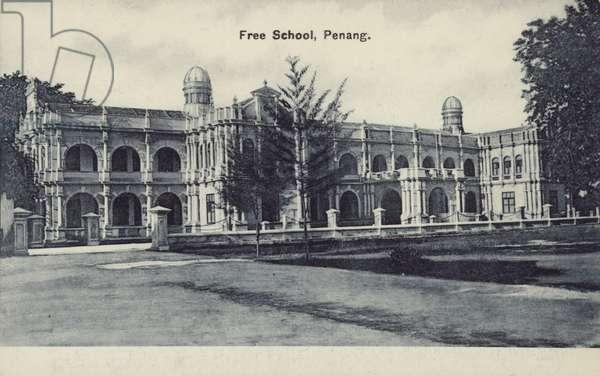 Free School, Penang (b/w photo)