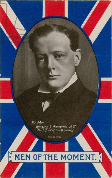 Winston S Churchill (b/w photo)