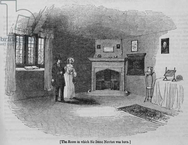 The Room in which Sir Isaac Newton was born (engraving)
