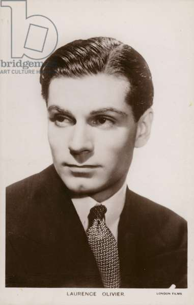 Sir Laurence Olivier, English film and stage actor, director and producer (b/w photo)