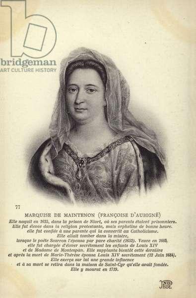 Francoise d Aubigne (litho)