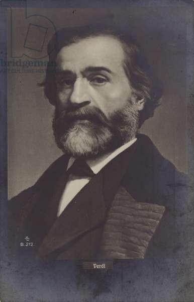 Portrait of Giuseppe Verdi (b/w photo)