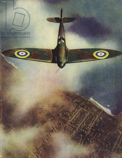 Supermarine Spitfire, c1940 (colour litho)