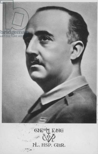 Francisco Franco, Spanish general and dictator (b/w photo)