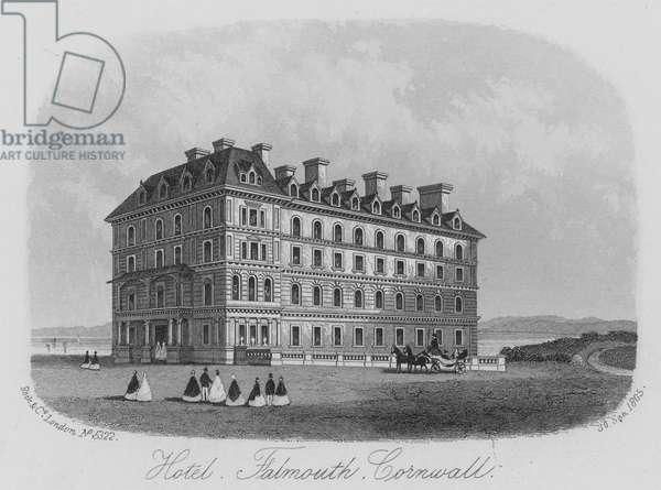 Hotel, Falmouth, Cornwall (engraving)