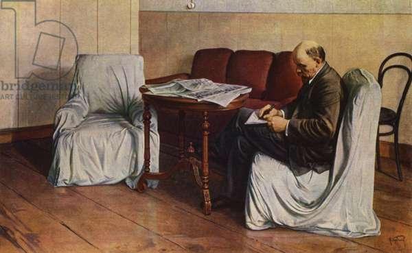 Lenin in Smolny (colour litho)