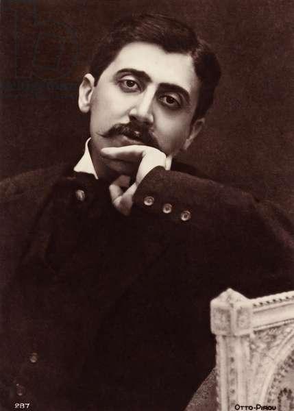 Marcel Proust (1871-1922), French novelist (b/w photo)