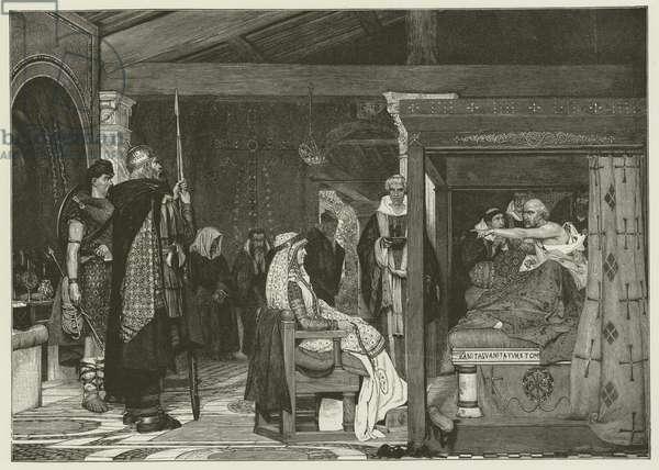 Fredegonde at the Death-bed of Praetextatus (engraving)