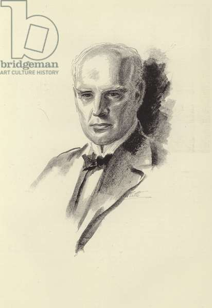 John Galsworthy, English novelist and playwright (litho)