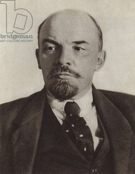 Lenin, Moscow, October 1918 (b/w photo)
