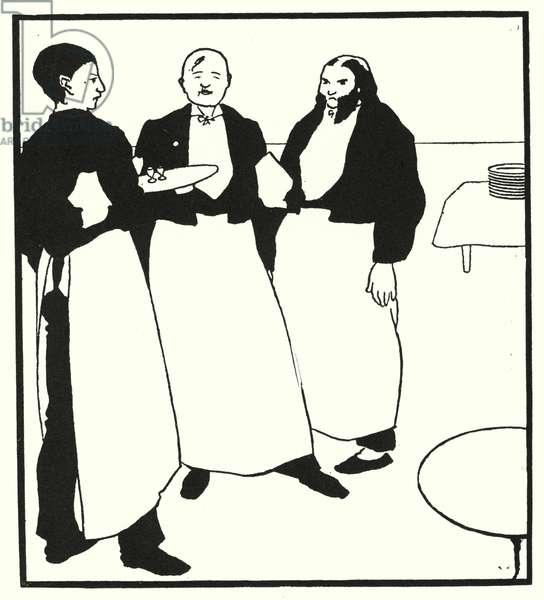 Garcons De Cafe (engraving)