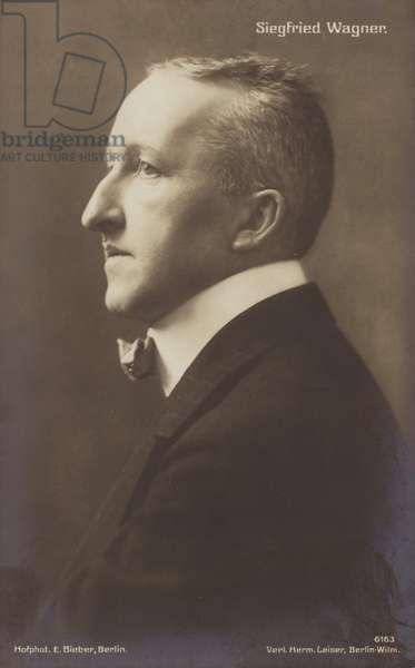 Portrait of Siegfried Wagner (b/w photo)