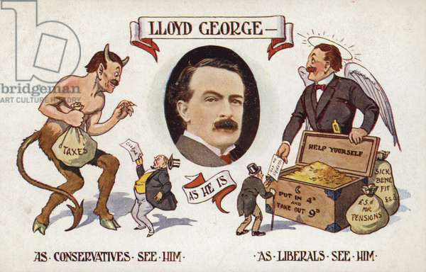 David lloyd George, Welsh Liberal politician (colour litho)