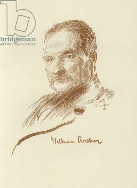 William Archer, Scottish drama critic (litho)