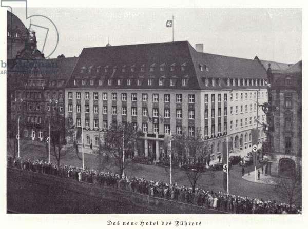 The Fuhrer's new hotel, Nuremberg, 1936 (b/w photo)