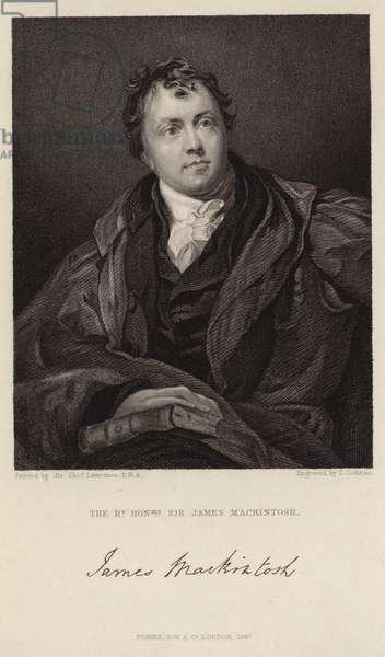 Portrait of Sir James Mackintosh (engraving)