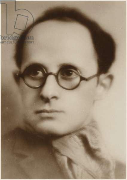 Portrait of Jean Wiener (b/w photo)