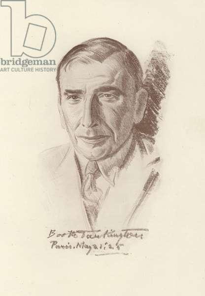 Booth Tarkington, American novelist and dramatist (litho)