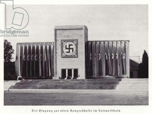 Entrance to the Luitpold Hall, Nuremberg, 1936 (b/w photo)