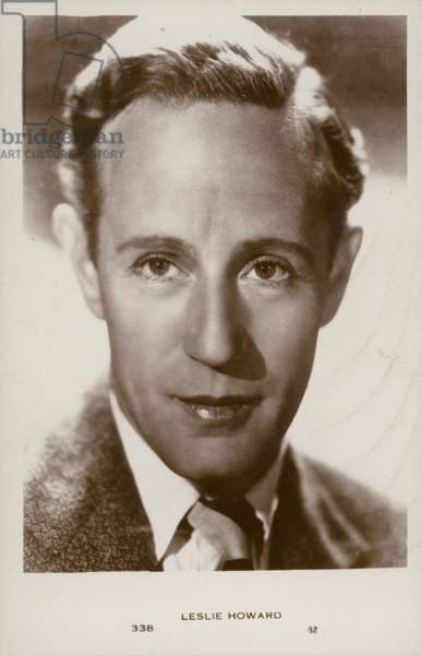 Leslie Howard, English actor and film star (b/w photo)