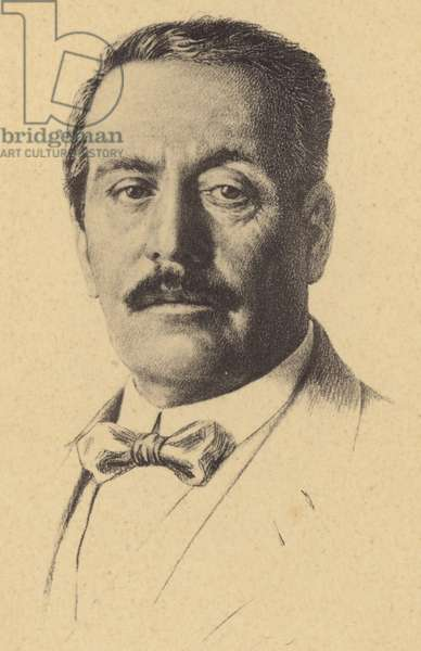 Portrait of Giacomo Puccini (litho)
