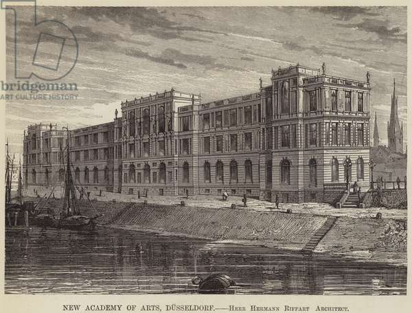 New Academy of Arts, Dusseldorf (engraving)