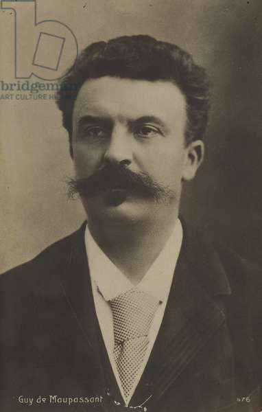 Guy de Maupassant, French author (b/w photo)