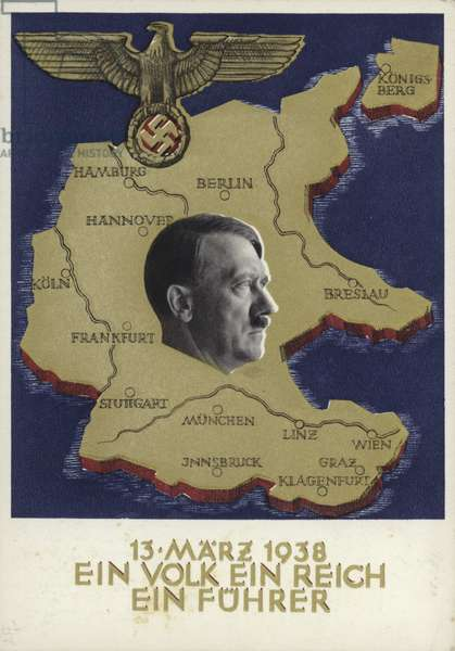 The Anschluss, March 1938 (colour litho)