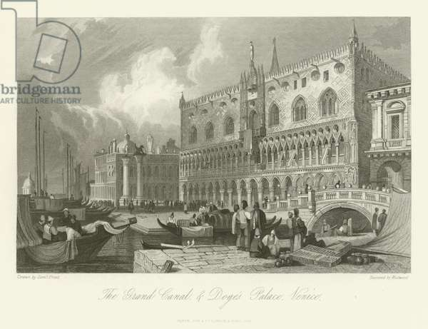 The Grand Canal and Doge's Palace, Venice, 1844 (engraving)