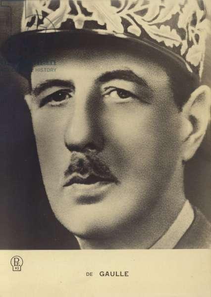 Charles de Gaulle (litho)