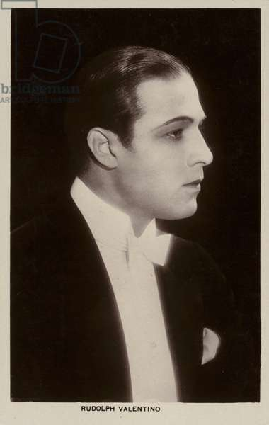 Rudolph Valentino, Italian actor and silent film star (b/w photo)