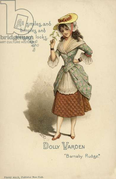 Dolly Varden, from Barnaby Rudge, by Charles Dickens (colour litho)