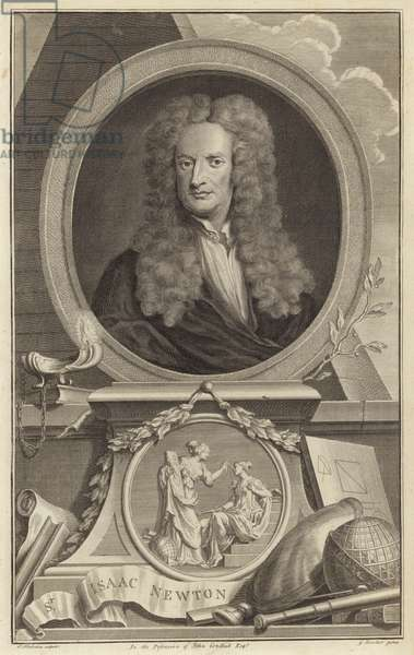 Sir Isaac Newton, English physicist, mathematician and astronomer (engraving)