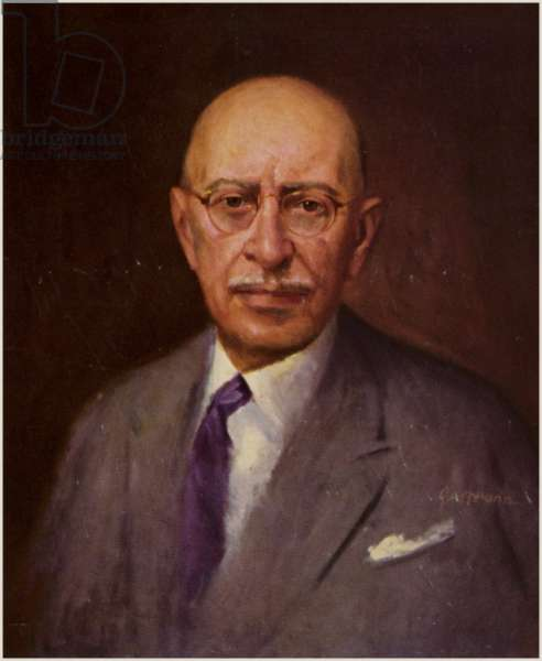 Portrait of Igor Stravinsky (colour litho)
