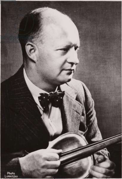 Portrait of Paul Hindemith (b/w photo)