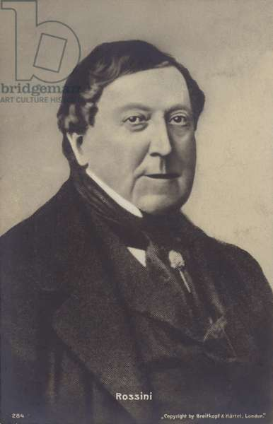 Portrait of Gioachino Rossini (b/w photo)
