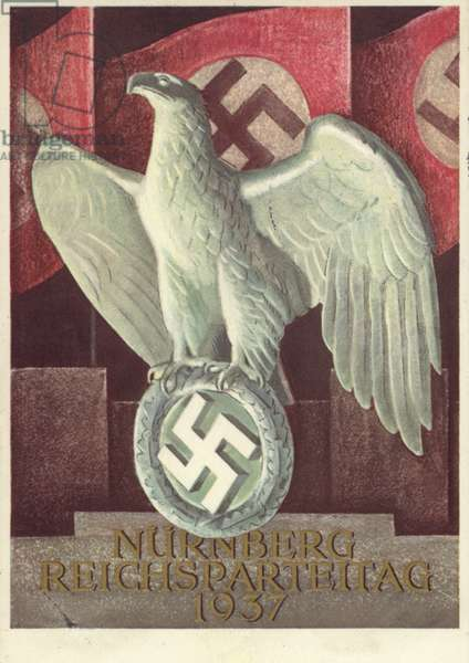 Nuremberg Rally, 1937 (colour litho)
