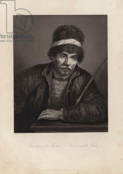 Rembrandt's father (engraving)